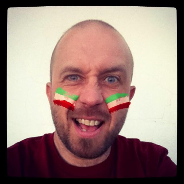 Iran!!! #flagface #worldcup #worldcup2014 #football #iran