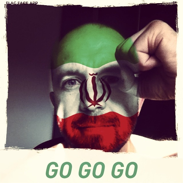 Go Iran go!#flagface #worldcup #worldcup2014 #football #iran