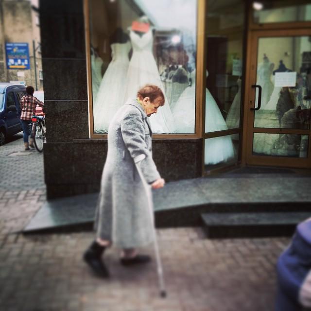 Strzelce Opolskie#street #oldwoman #poland
