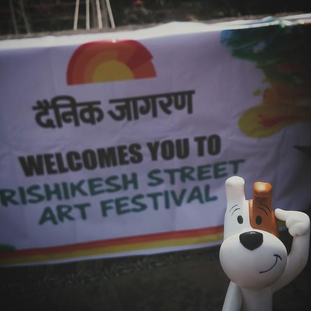 #rishikeshstreetartfestival #rishikesh #reksio #tuktukcinema #india