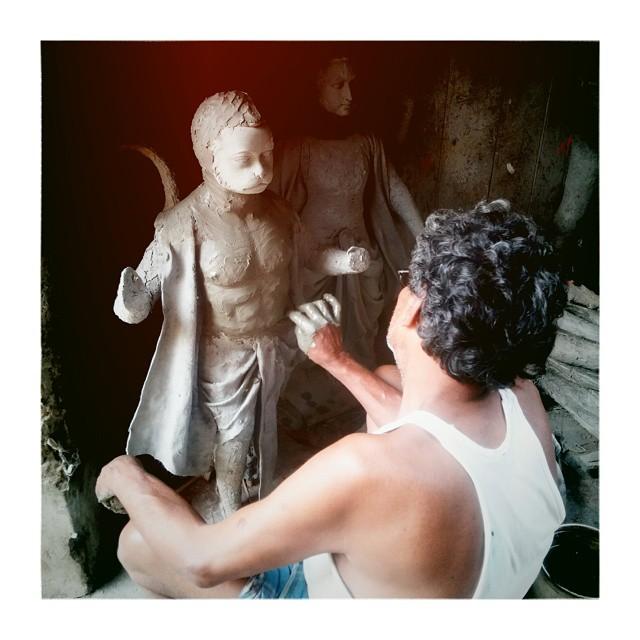 Hannuman in progres ;)#hannuman #india #kolkata #_soi #kumartuli