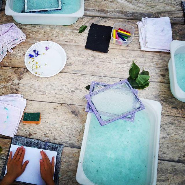 A dziś uczymy jak robic #papierczerpany#etnowarsztaty