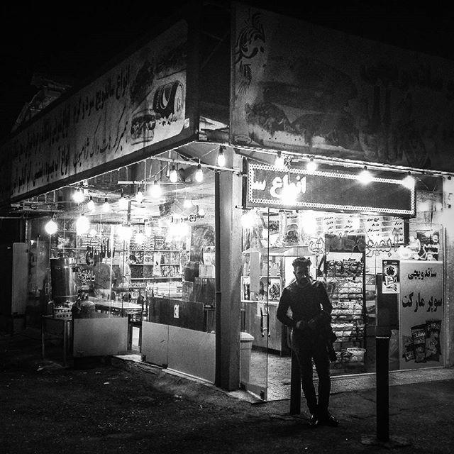 #iran #teheran #street #shop #busstop